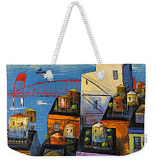 New York,red Bridge Weekender Tote Bag