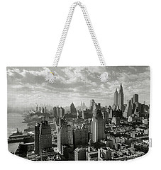 New Your City Skyline Weekender Tote Bag by Jon Neidert