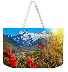 New Zealand Southern Alps Montage Weekender Tote Bag