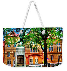 Weekender Tote Bag featuring the photograph Newberry Opera House by Lisa Wooten