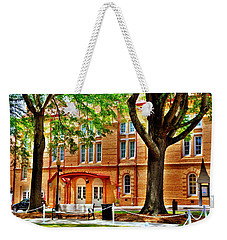 Weekender Tote Bag featuring the photograph Newberry Opera House Newberry Sc by Lisa Wooten