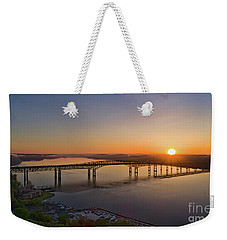 Newburgh-beacon Bridge May Sunrise Weekender Tote Bag