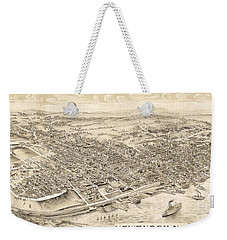 Newburgh Ny Birds Eye Drawing Weekender Tote Bag
