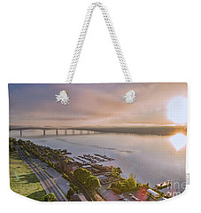 Newburgh Waterfront At Sunrise 3 Weekender Tote Bag