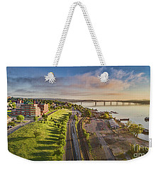 Newburgh Waterfront Looking North Weekender Tote Bag