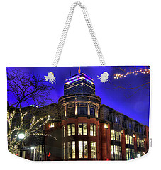 Weekender Tote Bag featuring the photograph Newbury Street And The Prudential - Back Bay - Boston by Joann Vitali