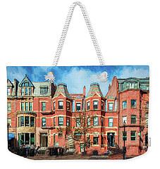 Newbury Street In Boston Weekender Tote Bag