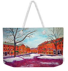 Newburyport Ma In Winter Weekender Tote Bag