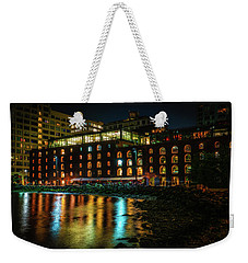 Weekender Tote Bag featuring the photograph Newly Gentrified Warehouse At Night by Chris Lord