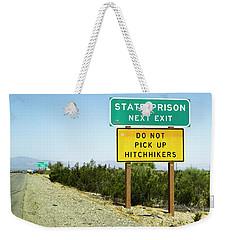 Next Exit Weekender Tote Bag