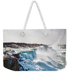 Weekender Tote Bag featuring the photograph Niagara Falls 4589 by Guy Whiteley