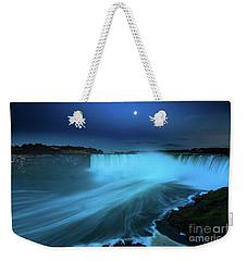 Niagara Falls And Moon  Weekender Tote Bag by Mariusz Czajkowski