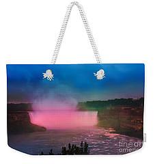 Niagara Falls At Night Weekender Tote Bag