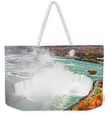 Niagara Falls Autumn Weekender Tote Bag by Charline Xia