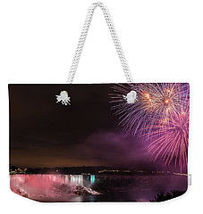 Niagara Falls Fourth Of July Weekender Tote Bag by Brenda Jacobs