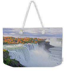 Niagara Falls In Autumn Weekender Tote Bag