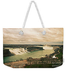 Weekender Tote Bag featuring the photograph Niagara Falls by Mary Machare