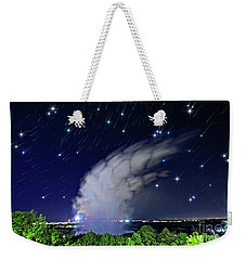 Niagara Falls Rising Mist Under Starry Sky Weekender Tote Bag by Charline Xia