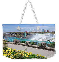 Niagara Falls Spring Time Weekender Tote Bag by Charline Xia