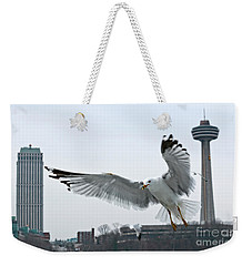 Niagara Falls With Gulls Weekender Tote Bag by Charline Xia
