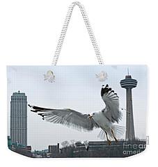 Niagara Falls With Gulls Weekender Tote Bag