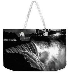 Niagara At Night Weekender Tote Bag