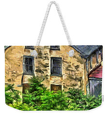 Weekender Tote Bag featuring the mixed media Niccolo by Trish Tritz