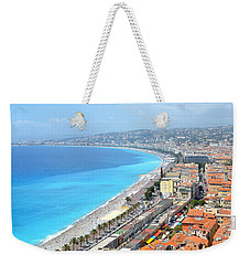 Nice France Coastline Weekender Tote Bag by Corinne Rhode