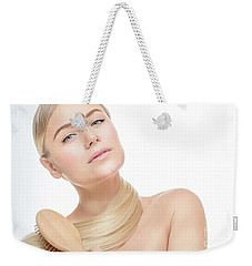 Nice Girl In The Beauty Salon Weekender Tote Bag