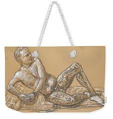 Nick Reclining Weekender Tote Bag by Donelli  DiMaria
