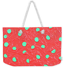 Weekender Tote Bag featuring the painting Nickels And Dimes by Thomas Blood