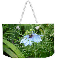 Nigella In Spring Rain Weekender Tote Bag
