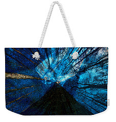 Weekender Tote Bag featuring the painting Night Angel by David Lee Thompson