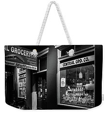 Night At Central Grocery In Black And White Weekender Tote Bag