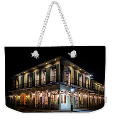 Weekender Tote Bag featuring the photograph Night At Chateau Hotel by Greg Mimbs
