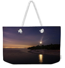 Night At The Sanibel Lighthouse Weekender Tote Bag
