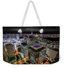 Night At Tokyo Metropolitan Government Building Weekender Tote Bag