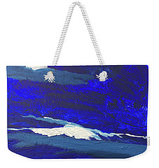 Weekender Tote Bag featuring the painting Night Beauty by Karen Nicholson