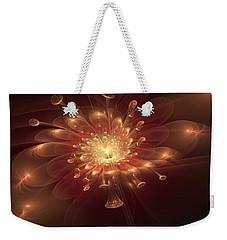 Weekender Tote Bag featuring the digital art Night Bloom by Svetlana Nikolova