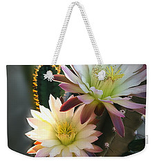 Weekender Tote Bag featuring the photograph Night-blooming Cereus 3 by Marilyn Smith