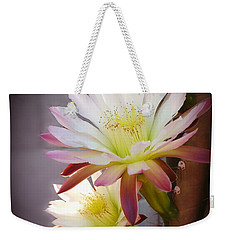 Weekender Tote Bag featuring the photograph Night Blooming Cereus by Marilyn Smith