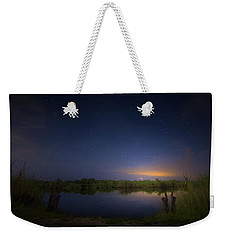 Night Brush Fire In The Everglades Weekender Tote Bag