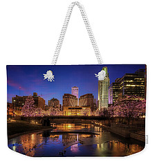 Night Cityscape - Omaha - Nebraska Weekender Tote Bag