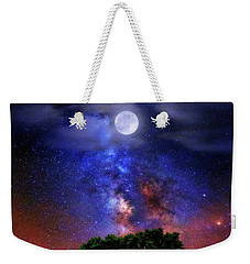 Weekender Tote Bag featuring the photograph Night Colors by Justin Kelefas