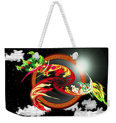 Night Dragon Weekender Tote Bag