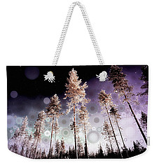 Weekender Tote Bag featuring the mixed media Night Falling by Susan Maxwell Schmidt