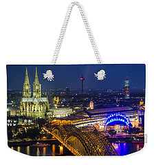Night Falls Upon Cologne 2 Weekender Tote Bag