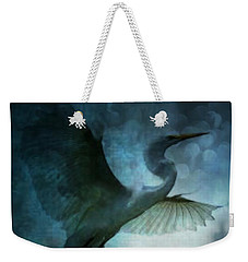 Night Flight Of The Great Egret Weekender Tote Bag