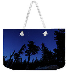 Weekender Tote Bag featuring the photograph Night Giants by Margaret Pitcher