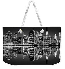 Weekender Tote Bag featuring the photograph Night Grooves by Az Jackson